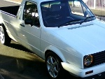 Photo 1800 vw caddy bakkie with canopy
